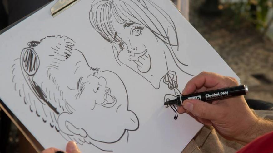 Caricaturist, Entertainment events Lake Maggiore