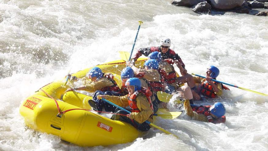 Rafting on the River Toce, near Lake Maggiore and Lake Mergozzo