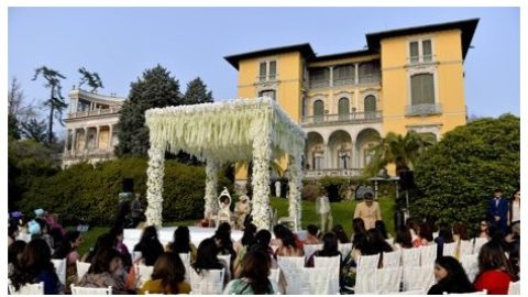 Indian wedding on Lake Maggiore