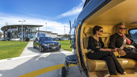 Helicopter Shuttle in Baveno and Stresa to Milan Airport
