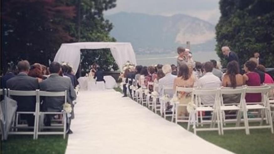 Outdoor Wedding Ceremony Lake Maggiore & Lake Orta