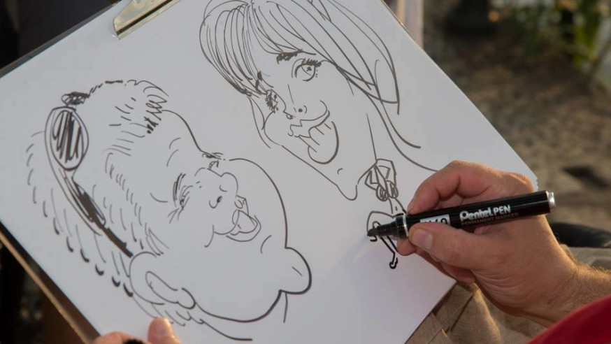 Caricaturist, Entertainment events Lake Maggiore