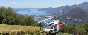 Gourmet lunch by helicopter overlooking the Italian Lakes: Lake Maggiore and Lake Mergozzo